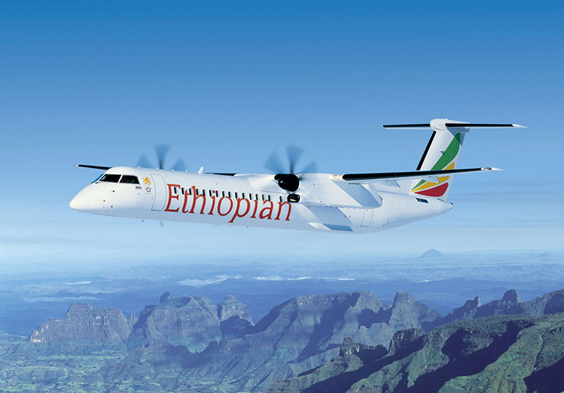 news: De Havilland Canada and Ethiopian Airlines Celebrate the Delivery of the Milestone Dash 8-400 Aircraft Bearing Serial Number 4600